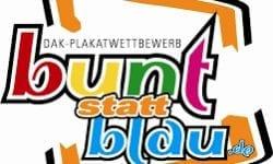 """Gewinn des Plakatwettbewerbs """"Bunt statt Blau"""""""